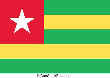 Togo flag - Vector Togo national flag