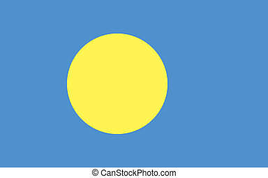 Palau flag - Vector Palau flag