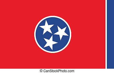 Tennessee flag - Vector State of Tennessee flag