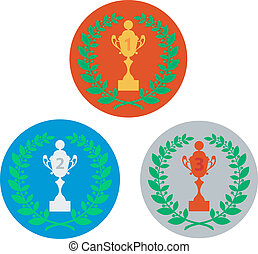 cup and laurel wreath