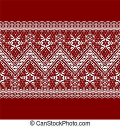 red background with white pattern