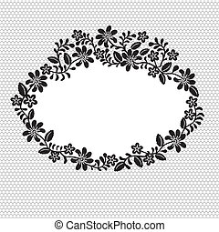 lace frame - Invitation, wedding or greeting card with lace...