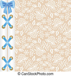 background with corset lacing