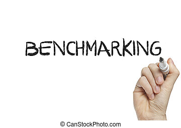Hand writing benchmarking on a white board