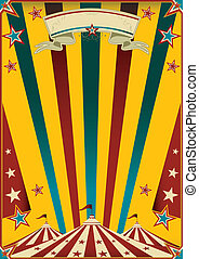 Fabulous circus - a multicolor circus poster for your...