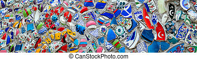 Background broken ceramics