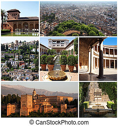 Alhambra in Granada, Spain - collection of photos from La...