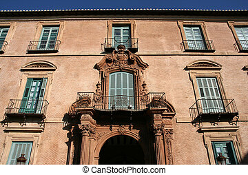 Murcia landmark - Archbishop\'s palace. Old building.