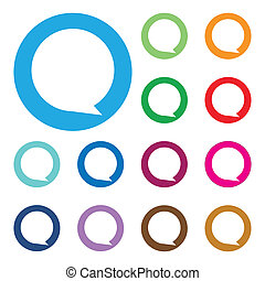 Empty buttons in popular soft color - icon, vector...