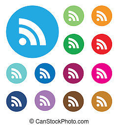 web button with RSS feed sign