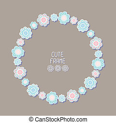 Vector beautiful floral frame Illustration Background Cute...