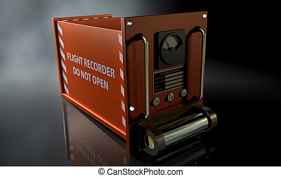 Flight Recorder - A regular aviation flight recorder black...