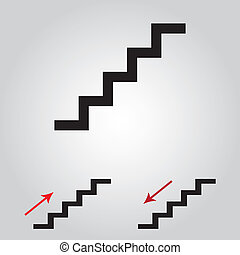 staircase symbol on gay background for used