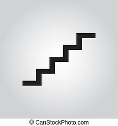 staircase symbol on gay background for used.