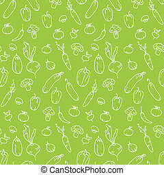 Seamless kitchen background of vegetables. Beautiful...