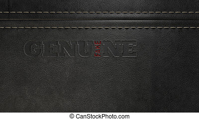 Fake Leather Conterfeit - A concept image showing a regular...