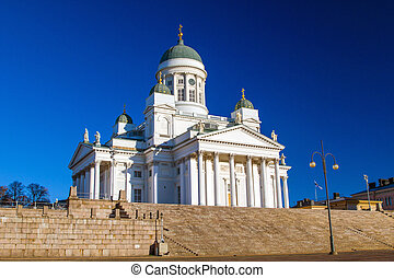 Helsinki Cathedral or St Nicholas' Church - the biggest...