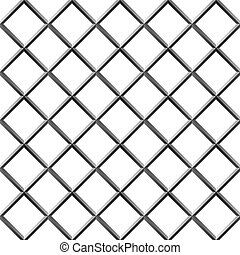 Seamless metal diamond shape grill isolated on white.