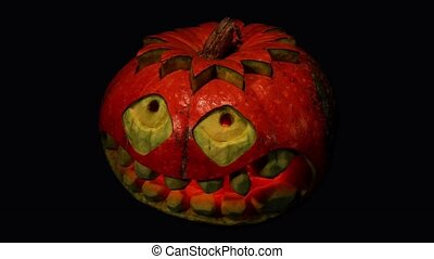 Carved Halloween pumpkin ALPHA matte, Full HD
