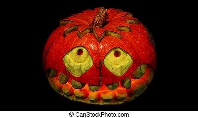 Carved Halloween pumpkin ALPHA matte, Full HD.
