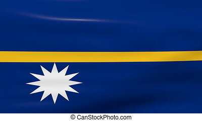 Waving Nauru Flag, ready for seamless loop