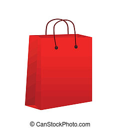 Empty red shopping bag