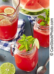 Refreshing Homemade Watermelon Agua Fresca with Lime