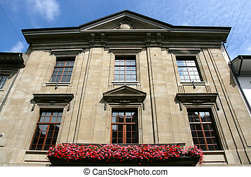 Winterthur - Balcony with flowers in Winterthur, Switzerland...