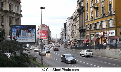 Brankova street in Belgrade, Serbia - BELGRADE - JANUARY 12:...