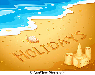 Holiday at the beach - Illustration of a holiday at the...