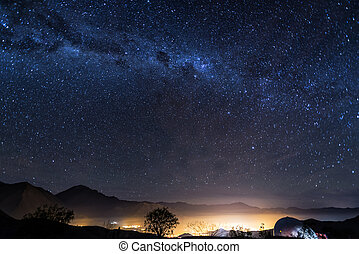 Stars of Vicuna, Chile - View of the Milky Way over the...