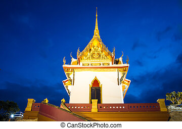 Pagoda at twilight time,Thailand Temple