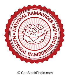 National hamburger day stamp