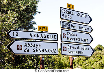 Provence - signposts, Provence, France