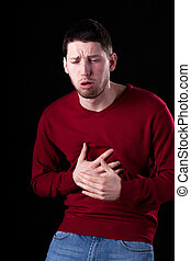 Man with strong cough