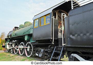 Ancient steam trains