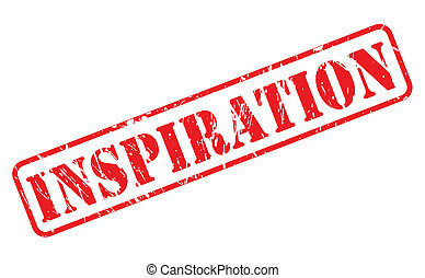 INSPIRATION red stamp text on white