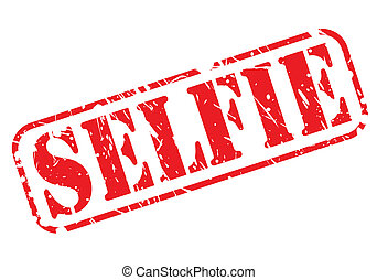 SELFIE red stamp text