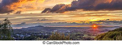 romantic sunset in Sankt Wendel