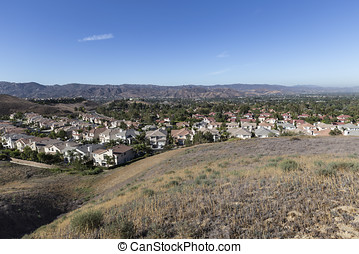 Simi Valley California Neighborhood - Suburban Simi Valley...
