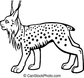 Lynx - vector drawing of a lynx standing