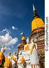 The ancient city of Thailand with ancient architecture style