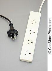 Power Cord - A close up shot of an Australian power cord