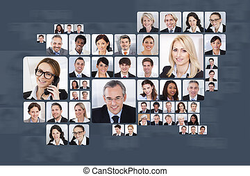 Collage Of Business People