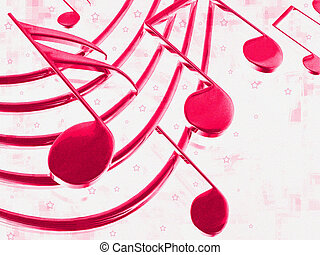 Color musical notes