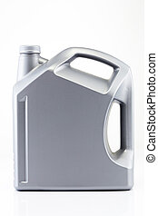 Gray color plastic oil gallon