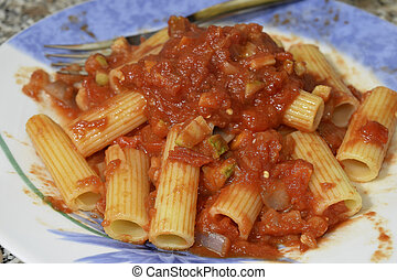 rigatoni withm vegetable ragugrave; - Italian recipes:...