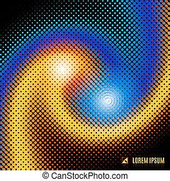 abstract background with spiral vortex