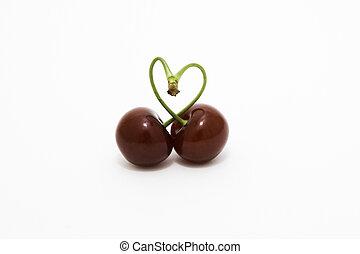 Cherry love - Cherry in heart