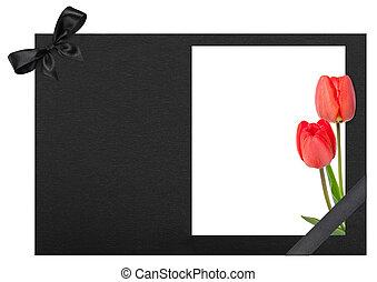 tulips,  funeral, Quadro